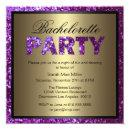 Purple Glitter Bachelorette Party