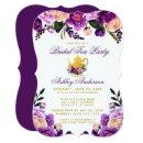Purple Gold Bridal Shower Tea Party Invite BP