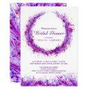 Purple watercolor art splat bridal shower invites