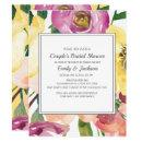 Purple Yellow Pink Floral Couple's Bridal Shower