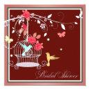 Red and Coral Birdcage Bridal Shower