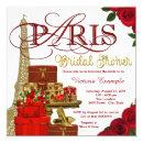 Red and Gold Paris Bridal Shower