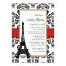 Red Eiffel Tower Parisian Bridal Shower