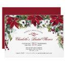 Red Poinsettia Floral Christmas Bridal Shower