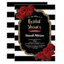 Red rose bridal shower  black and gold
