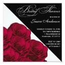 Red Roses Black and White Bridal Shower Invite