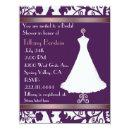 Rich Purple Damask Bridal Shower