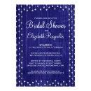 Royal Blue Rustic Country Bridal Shower Invitations