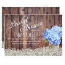Rustic Baby's Breath Blue Hydrangea Bridal Shower