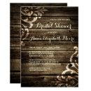 Rustic Barn Wood Damask Vintage Bridal Shower Invitations