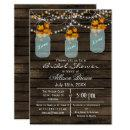 rustic barnwood maple mason jar fall bridal shower