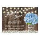 Rustic Blue Hydrangea Floral Jar Bridal Shower