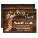 Rustic Boot Country Bridal Western Baby Shower