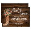 Rustic Boot Country Bridal Western Bridal Shower