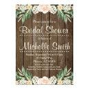 Rustic Bridal Shower Invitation, Lace, Floral