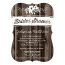 Rustic Country Chic Bridal Shower Invitations