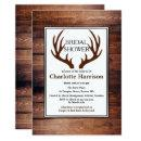 Rustic Country Deer Antlers Bridal Shower