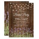Rustic Country Lavender Lights Bridal Shower