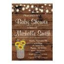 Rustic Country Sunflower Mason Jar Baby Shower