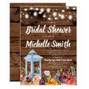 Rustic Fall Autumn Floral Lantern Bridal Shower