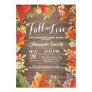 Rustic Fall Bridal Shower Invitation Card