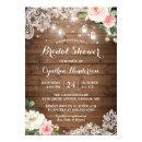Rustic Mason Jar Lights Lace Floral Bridal Shower