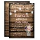 Rustic Mason Jar Wildflowers Barn Bridal Shower