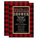 Rustic Red Black Buffalo Plaid Bridal Shower