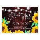 Rustic red string lights sunflowers bridal shower