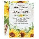Rustic Sunflower Bridal Shower Floral Invite