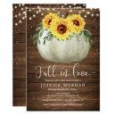 Rustic Sunflower Fall in Love Bridal Shower Invite