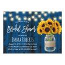 Rustic Sunflower Navy Blue Wood Bridal Shower