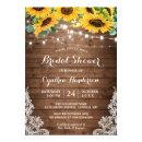Rustic Sunflowers String Lights Lace Bridal Shower