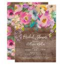 Rustic Wood Pastel Floral Bridal Shower