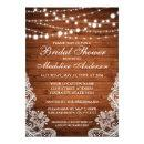 Rustic Wood String Lights and Lace Bridal Shower