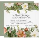 Sage w Blush Pink Ivory Roses Floral Bridal Shower