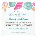 Sea Shells Beach Theme Bridal Shower Invitations