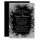 Silver Black Jewel Snowflake Bridal Shower
