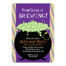 Something is Brewing, Witch Pot, Halloween Party Invitation