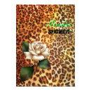 Stay Wild Animal print leopard white rose