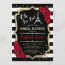 Stripes Red Roses French Style Bridal Shower