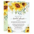 Summer Sunflowers Bridal Shower Yellow Floral