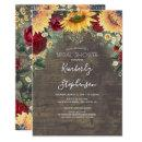 Sunflower and Burgundy Rose Rustic Bridal Shower