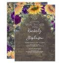Sunflower and Purple Rose Rustic Bridal Shower