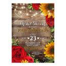 Sunflower and Rose Rustic Bridal Shower