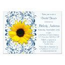 Sunflower Navy Blue White Floral