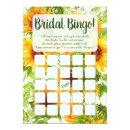 Sunflowers Bingo Bridal Shower Game