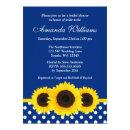 Sunflowers Blue and White Polka Dot Bridal Shower