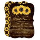 Sunflowers Bridal Shower  Rustic Wood