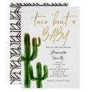Taco bout baby Cactus Couples Shower Invite
